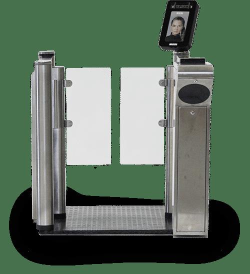 Sicherheitsgate mit FaceScreen und Passport Reader zur biometrischen Überprüfung