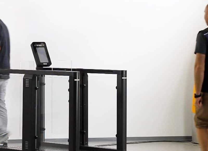 Biometric facial recognition at gates