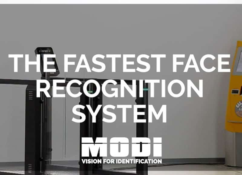 Biometric facial recognition for security at airports